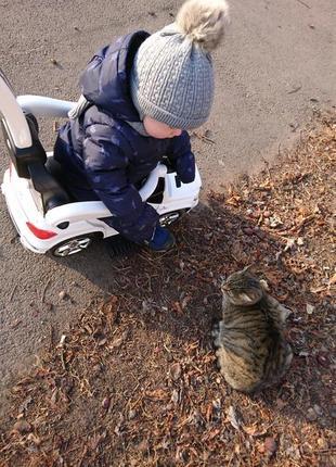 Зимняя шапка серая с бубоном на мальчика девочку