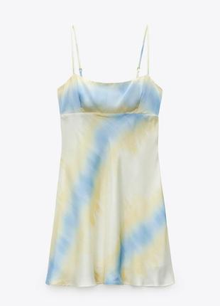 Сукня zara. платье в бельевом стили zara