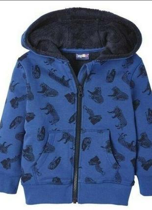Толстовка на меху, куртка, кофта на молнии lupilu 86/92, 98/104, 110/116 см2 фото