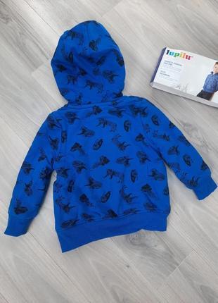 Толстовка на меху, куртка, кофта на молнии lupilu 86/92, 98/104, 110/116 см8 фото