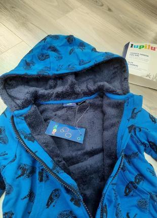 Толстовка на меху, куртка, кофта на молнии lupilu 86/92, 98/104, 110/116 см6 фото