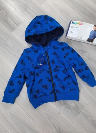 Толстовка на меху, куртка, кофта на молнии lupilu 86/92, 98/104, 110/116 см3 фото