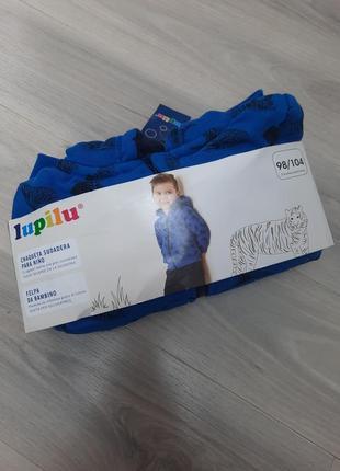 Толстовка на меху, куртка, кофта на молнии lupilu 86/92, 98/104, 110/116 см9 фото