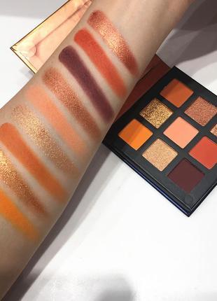 🍑🌺персиковая палетка теней для век beauty glazed pressed powder eyeshadow peach palette  (9 color)1 фото