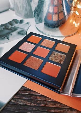 🍑🌺персиковая палетка теней для век beauty glazed pressed powder eyeshadow peach palette  (9 color)3 фото