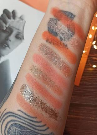 🍑🌺персиковая палетка теней для век beauty glazed pressed powder eyeshadow peach palette  (9 color)4 фото