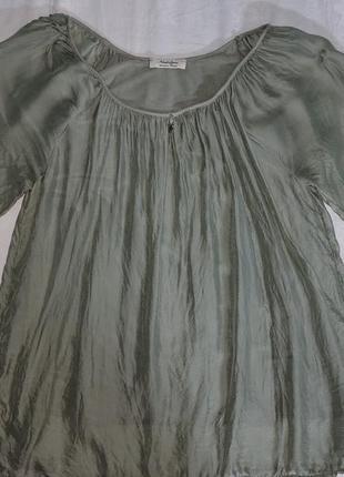 Блузка шёлковая цвет оливы nostalgia l австралия