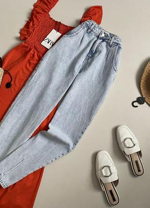 Трендовые джинсы слоучи с высокой посадкой bershka