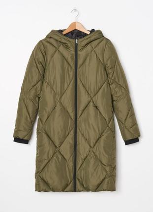 Пальто стеганное оверсайз осеннее синтапон