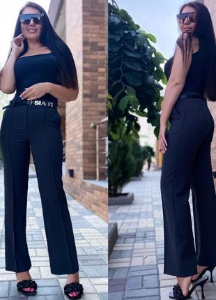 Брюки женские летние легкие штаны классические черные синие зеленые