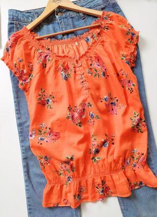 Натуральная легкая футболка блуза c&a