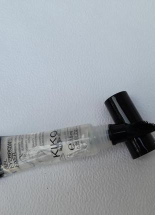 Прозрачный фиксирующий гель для бровей от kiko milano