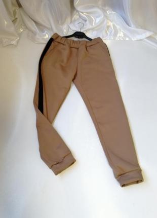 Тёплые спортивно прогулочные штаны джогеры