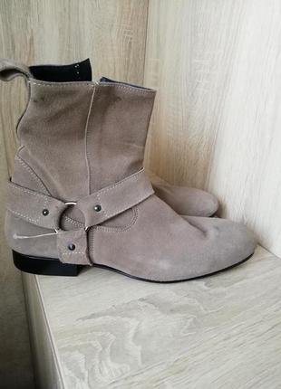 Замшевые ботинки большого размера, италия