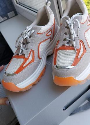 Кроссовки оранжевые антонио биаджи 37-38
