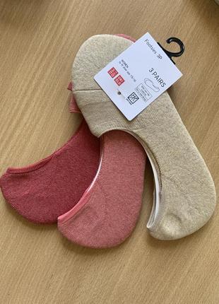 Носки женские uniqlo 3 пары в наборе
