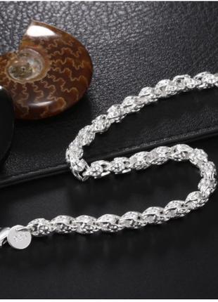 Крутой  серебристый браслет