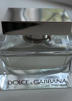 Парфюмированная вода dolce & gabbana the one rose, оригинал, новый тестер, 75 мл