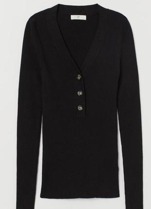 Облегающие джемпер чёрного цвета вот h&m