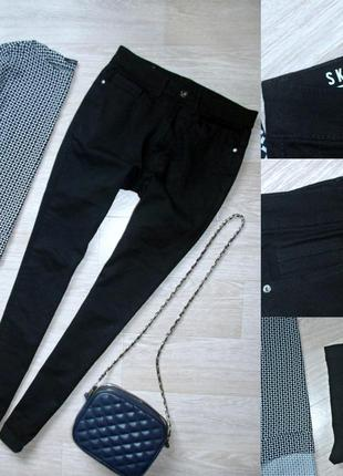 #25 черные джинсы скинни высокой посадки george