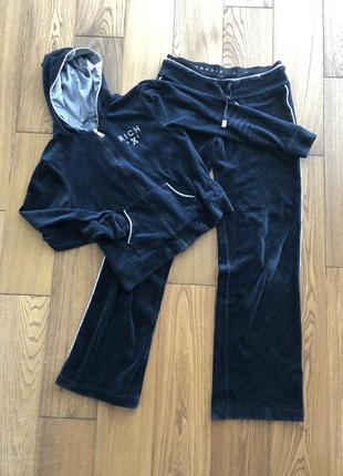 Бархатный спортивный костюм richmond