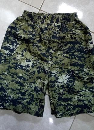Легкие шорты хаки на резинке 52-54