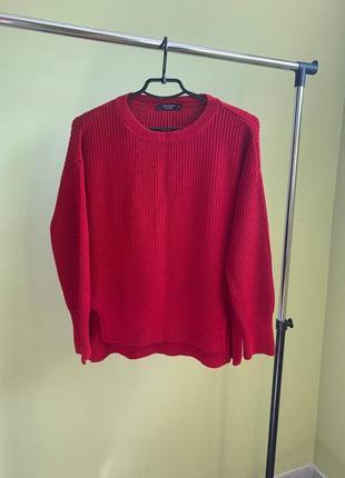 Фигурная кофта темно-красного цвета lc waikiki