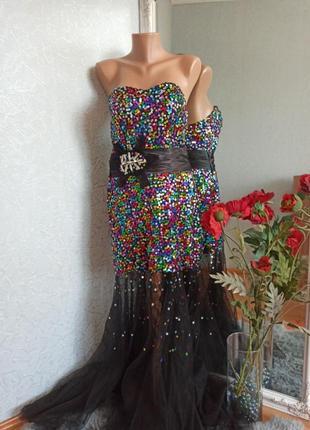 Платье сукня вечірня паєтка шикарна