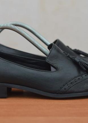 Черные женские кожаные туфли, лоферы clarks, 39.5 размер. оригинал