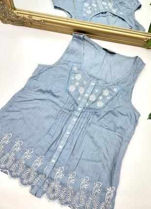 Легкая хлопковая блуза f&f