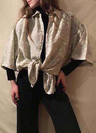 Винтажная шёлковая рубашка silk шёлк вінтажна рубашка вінтаж шовк