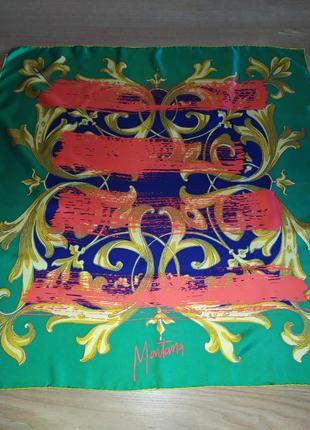 Montana фирменный винажный платок, шёлк,шов роуль.