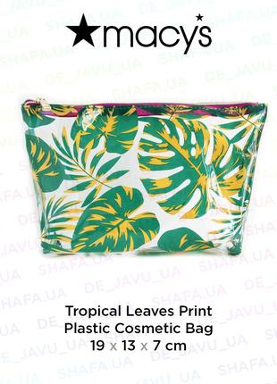 Прозрачная косметичка macy's с тропическим принтом