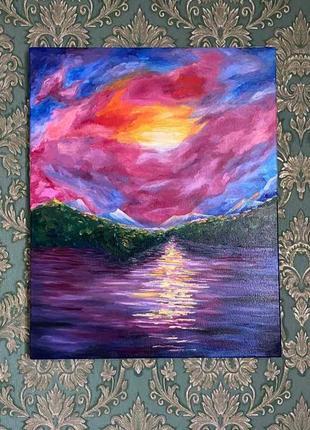Картина маслом пейзаж авторская работа 40×50
