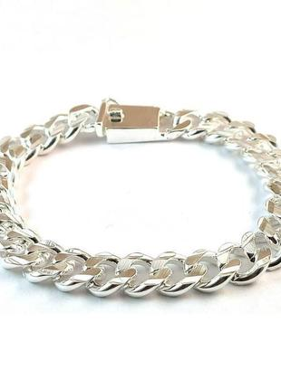 Стильний браслет покритий сріблом 925