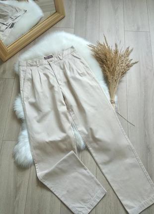 Marlboro classics джинси мом банани слоучі на високій посадці  повсякденні штани брюки на літо бежевого кольору вінтажні  l 32