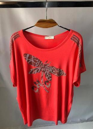 Женские футболки размер 52-58 8 цветов разные узоры