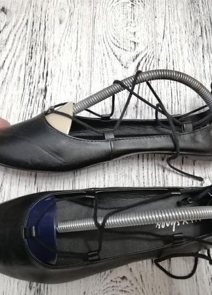 Туфли балетки с острым носком nly shoes4 фото