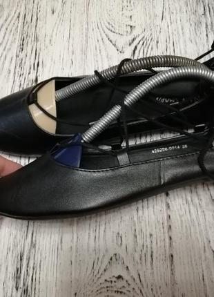 Туфли балетки с острым носком nly shoes2 фото