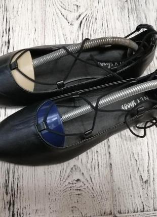 Туфли балетки с острым носком nly shoes5 фото