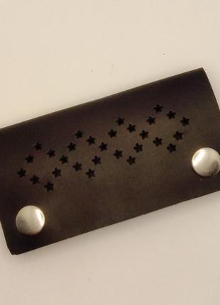 Кожаная ключница для мужчин ручной работы.
