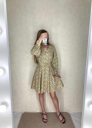 🌾 невероятное платье в мелкий цветочный принт с пояском 🌾
