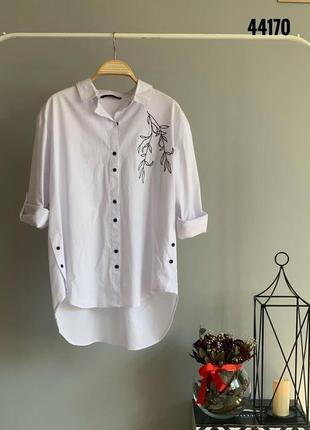Хлопковые рубашки с вышивкой в размере s,m,l