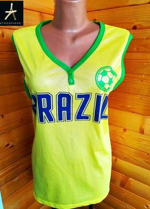 479. майка класса спортивной одежды британского бренда atmosphere с принтом.