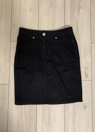 Черная/базовая/юбка/классическая/миди/котоновая/джинсовая