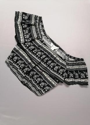 🐘топ укороченная блуза с приспущенными плечами вискоза