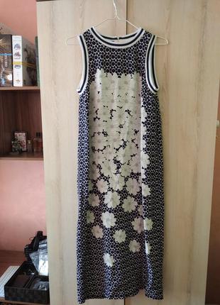 Шелковое открытое миди платье