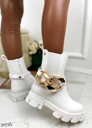 Рр 36-41. ботинки челси белые