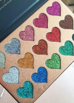 🌈🎨палетка теней глиттеров beauty glazed pressed glitter 15 extremely tiny glitter shadows(15 color)1 фото