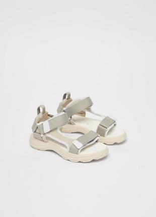 38 размер новые фирменные спортивные сандали босоножки зара zara